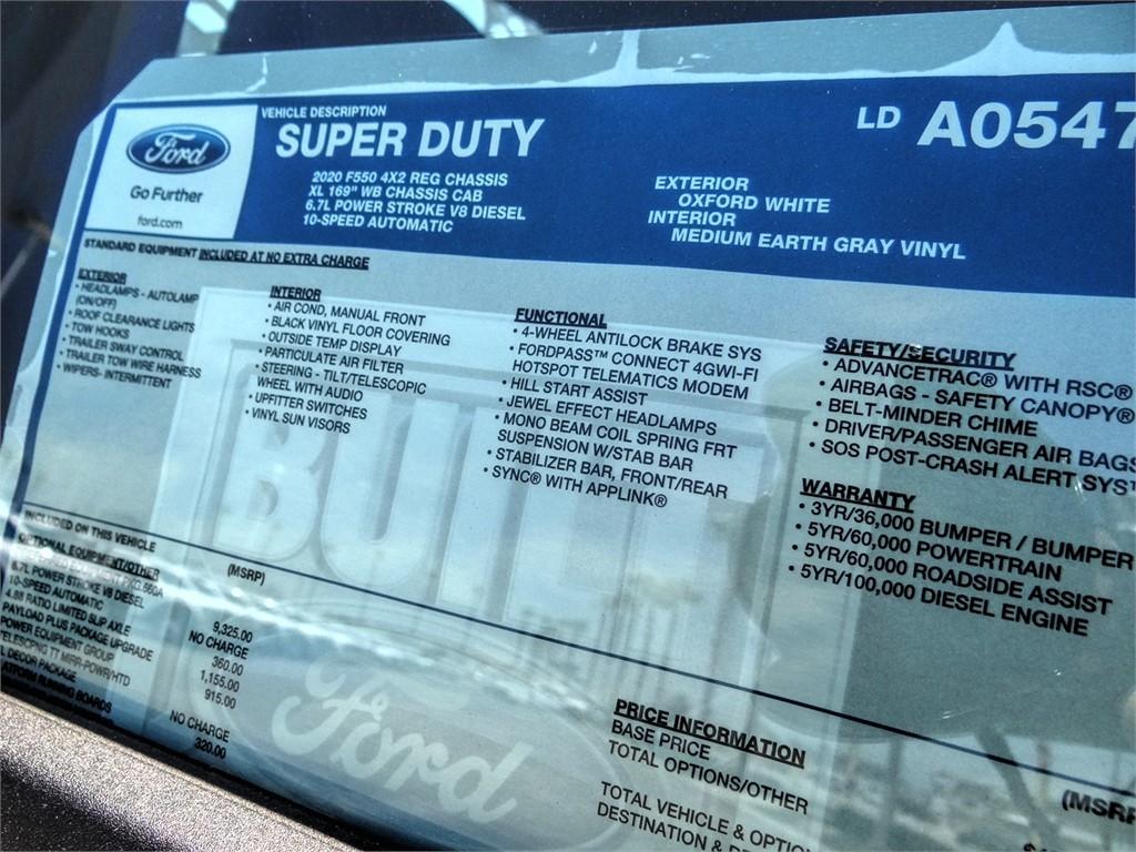 2020 Ford F-550 Regular Cab DRW 4x2, Scelzi WFB Flatbed #FL2859 - photo 12