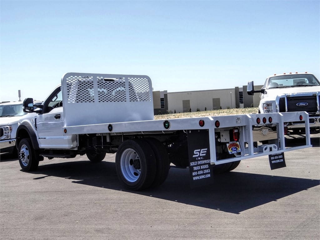 2020 Ford F-550 Regular Cab DRW 4x2, Scelzi WFB Flatbed #FL2903 - photo 2