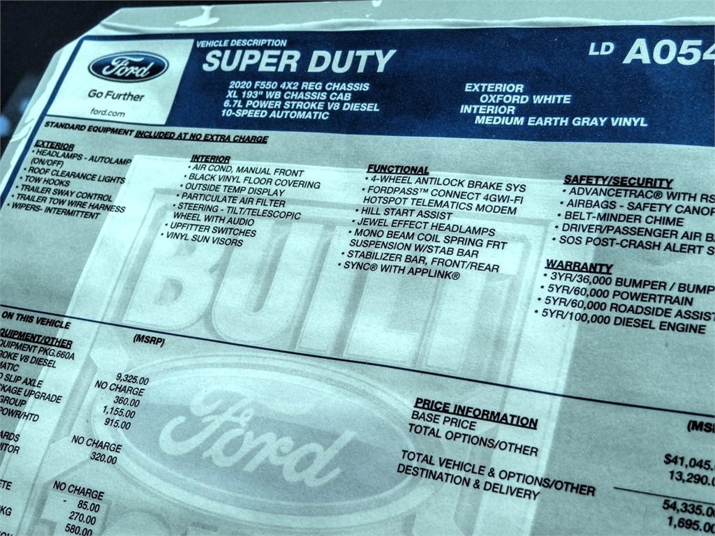 2020 Ford F-550 Regular Cab DRW 4x2, Scelzi WFB Stake Bed #FL2923 - photo 13