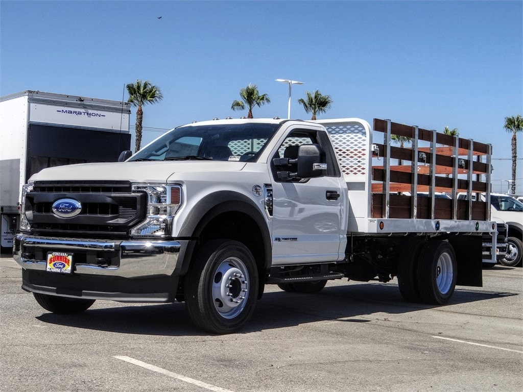 2020 Ford F-550 Regular Cab DRW 4x2, Scelzi WFB Stake Bed #FL2924 - photo 1