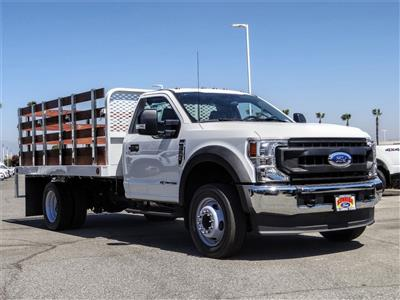2020 Ford F-550 Regular Cab DRW 4x2, Scelzi WFB Stake Bed #FL2924 - photo 6
