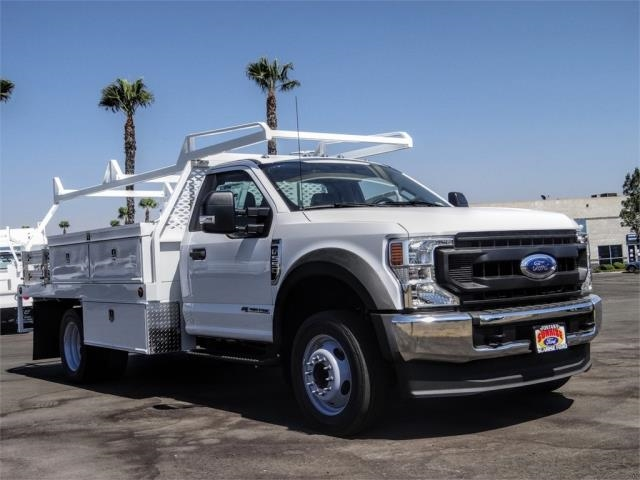 2020 Ford F-550 Regular Cab DRW 4x2, Scelzi CTFB Contractor Body #FL2935 - photo 6