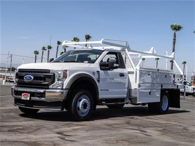 2020 Ford F-550 Regular Cab DRW 4x2, Scelzi CTFB Contractor Body #FL2935 - photo 1