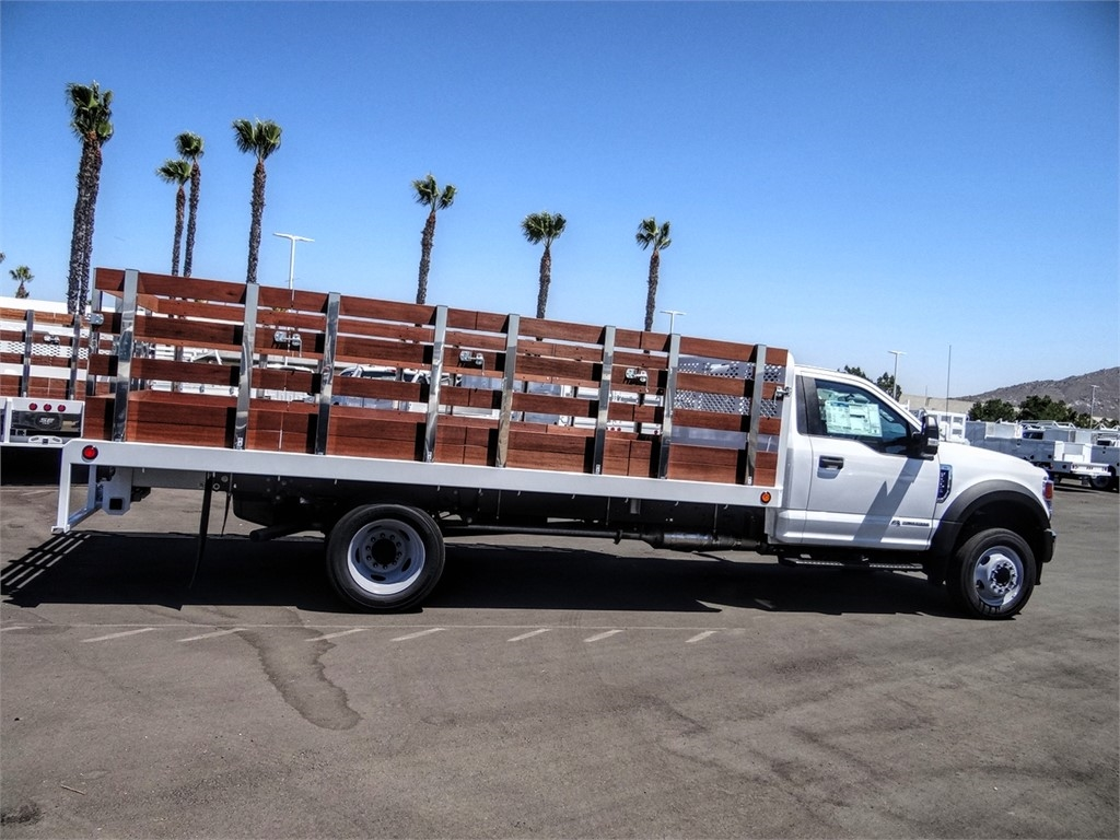 2020 Ford F-550 Regular Cab DRW 4x2, Scelzi WFB Stake Bed #FL2938 - photo 5