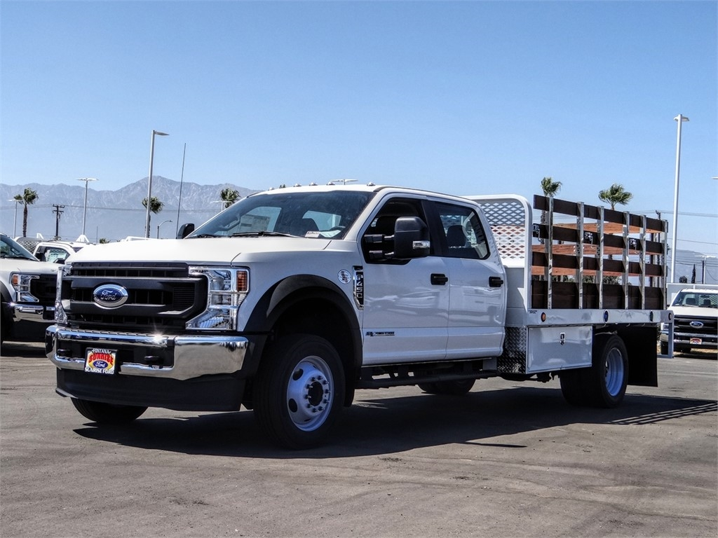 2020 Ford F-450 Crew Cab DRW 4x2, Scelzi WFB Stake Bed #FL2939 - photo 1