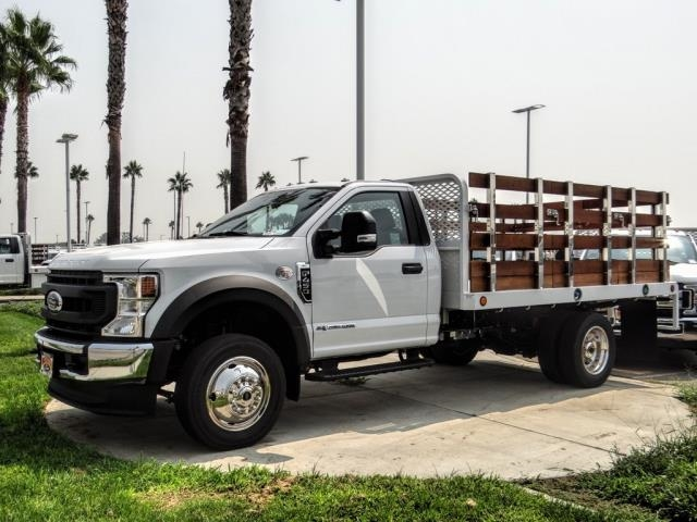 2020 Ford F-450 Regular Cab DRW 4x2, Scelzi WFB Stake Bed #FL3068 - photo 1