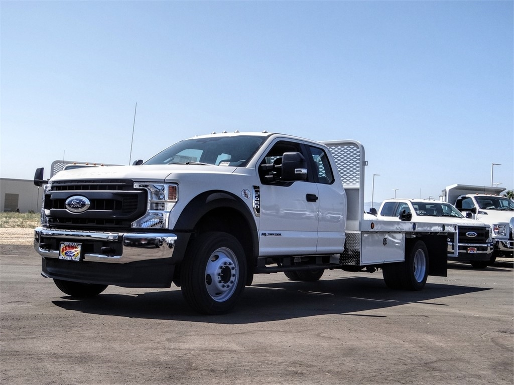 2020 Ford F-450 Super Cab DRW 4x2, Scelzi WFB Flatbed #FL3414 - photo 1