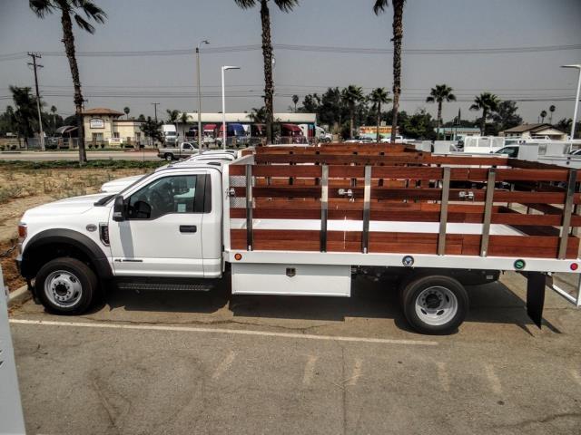 2020 Ford F-550 Regular Cab DRW 4x2, Scelzi WFB Stake Bed #FL3551 - photo 3