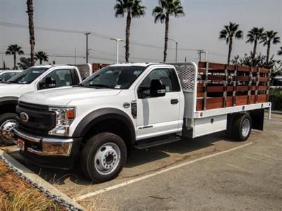 2020 Ford F-550 Regular Cab DRW 4x2, Scelzi WFB Stake Bed #FL3551 - photo 1