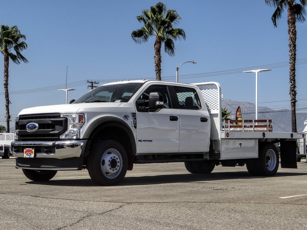 2020 Ford F-550 Crew Cab DRW 4x2, Scelzi WFB Flatbed #FL3700 - photo 1