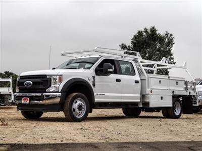 2020 Ford F-450 Crew Cab DRW 4x2, Scelzi CTFB Contractor Body #FL3877 - photo 3
