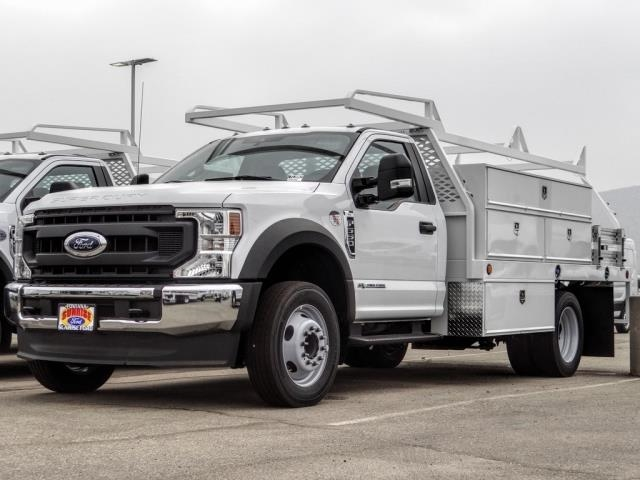 2020 Ford F-550 Regular Cab DRW 4x2, Scelzi SCTFB Contractor Body #FL3942 - photo 3