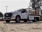 2020 Ford F-350 Regular Cab DRW 4x2, Scelzi WFB Stake Bed #FL4426 - photo 1