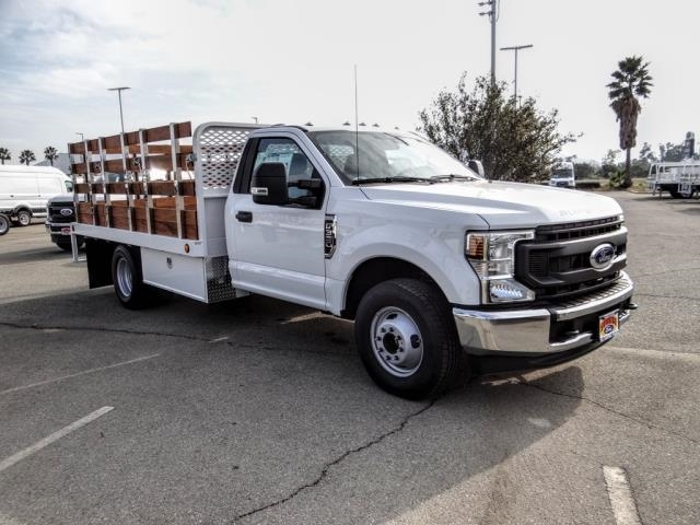 2020 Ford F-350 Regular Cab DRW 4x2, Scelzi WFB Stake Bed #FL4433 - photo 8