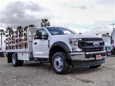 2020 Ford F-550 Regular Cab DRW 4x2, Scelzi WFB Stake Bed #FL4653 - photo 6
