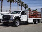 2020 Ford F-550 Regular Cab DRW 4x2, Scelzi WFB Stake Bed #FL4795 - photo 1