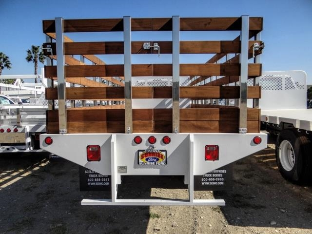 2021 Ford F-650 Regular Cab DRW 4x2, Scelzi SFB Stake Bed #FM0095 - photo 3