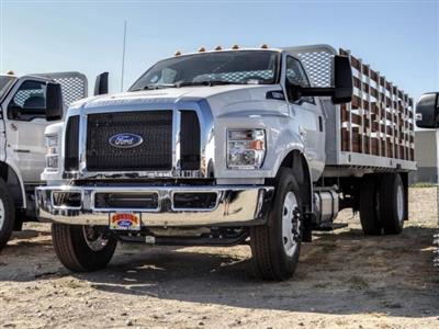 2021 Ford F-650 Regular Cab DRW 4x2, Scelzi SFB Stake Bed #FM0095 - photo 1