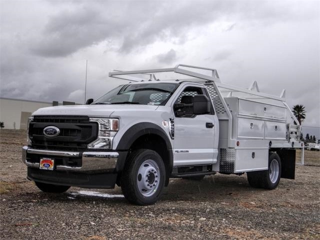 2021 Ford F-550 Regular Cab DRW 4x2, Scelzi SCTFB Contractor Body #FM0395 - photo 1