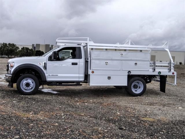 2021 Ford F-550 Regular Cab DRW 4x2, Scelzi SCTFB Contractor Body #FM0395 - photo 3