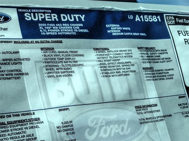 2020 Ford F-450 Regular Cab DRW 4x2, Scelzi WFB Flatbed #FM0490 - photo 12