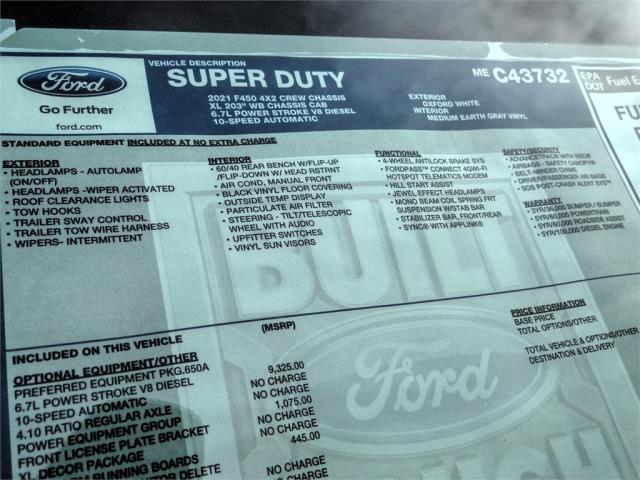 2021 Ford F-450 Crew Cab DRW 4x2, Scelzi Signature Service Body #FM0630 - photo 12
