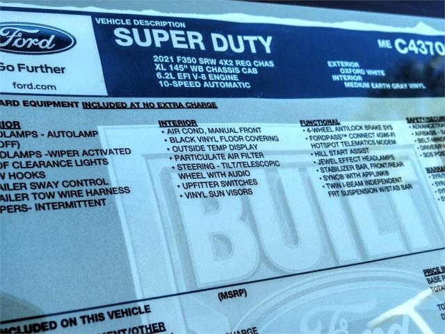 2021 Ford F-350 Regular Cab 4x2, Scelzi Signature Service Body #FM0632 - photo 11