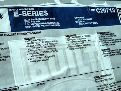 2021 Ford E-450 4x2, Marathon Cutaway Van #FM0742 - photo 9