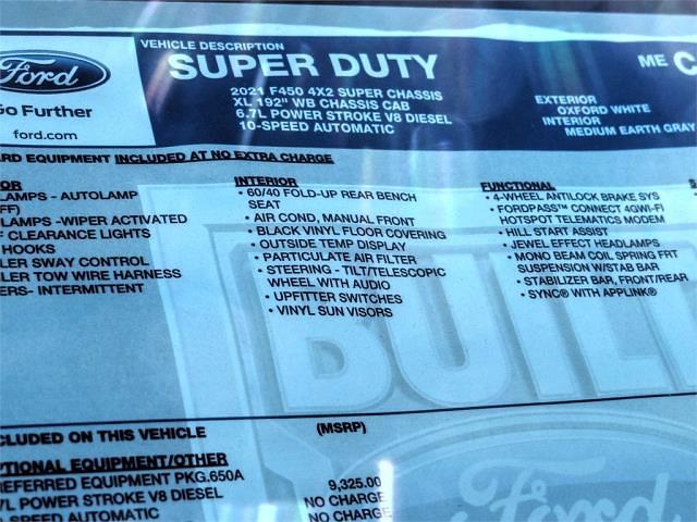 2021 Ford F-450 Super Cab DRW 4x2, Scelzi Signature Service Body #FM0782 - photo 12