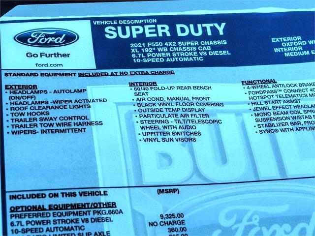 2021 Ford F-550 Super Cab DRW 4x2, Scelzi SEC Combo Body #FM0783 - photo 12