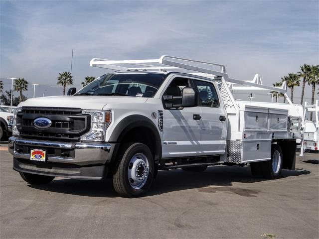 2021 Ford F-450 Crew Cab DRW 4x2, Scelzi CTFB Contractor Body #FM0869 - photo 1