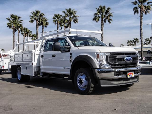 2021 Ford F-450 Crew Cab DRW 4x2, Scelzi CTFB Contractor Body #FM0869 - photo 6