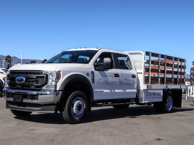 2021 Ford F-450 Crew Cab DRW 4x2, Scelzi WFB Stake Bed #FM0933 - photo 1