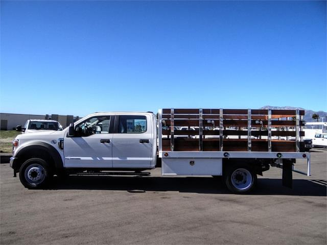 2021 Ford F-450 Crew Cab DRW 4x2, Scelzi WFB Stake Bed #FM0933 - photo 3