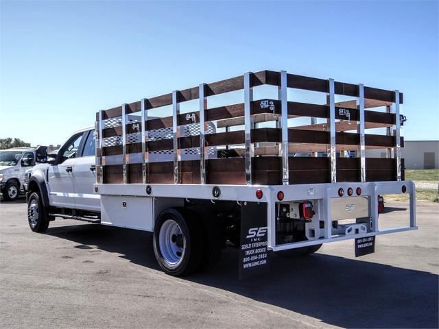 2021 Ford F-450 Crew Cab DRW 4x2, Scelzi WFB Stake Bed #FM0933 - photo 2