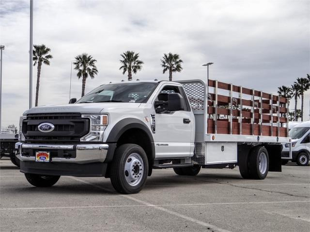 2021 Ford F-550 Regular Cab DRW 4x2, Scelzi WFB Stake Bed #FM0941 - photo 1