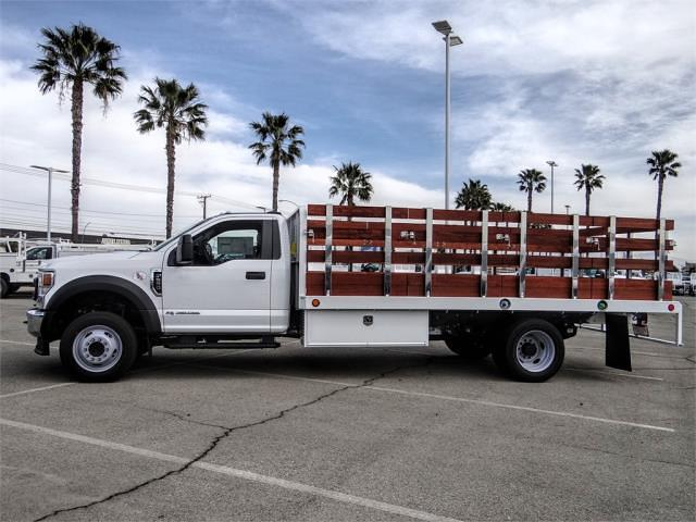 2021 Ford F-550 Regular Cab DRW 4x2, Scelzi WFB Stake Bed #FM0941 - photo 3