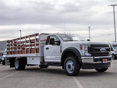 2021 Ford F-550 Regular Cab DRW 4x2, Scelzi WFB Stake Bed #FM0941 - photo 6