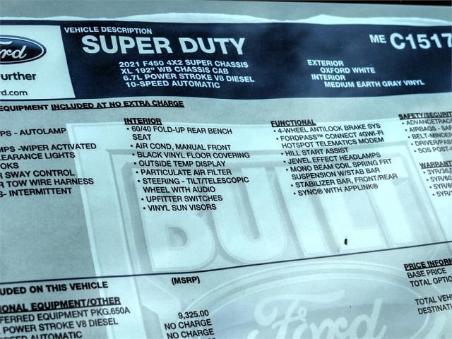 2021 Ford F-450 Super Cab DRW 4x2, Scelzi CTFB Contractor Body #FM1198 - photo 12
