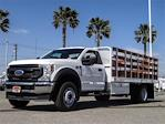 2021 Ford F-600 Regular Cab DRW 4x2, Scelzi WFB Stake Bed #FM1283 - photo 1