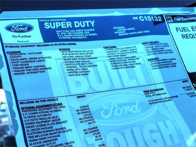 2021 Ford F-450 Crew Cab DRW 4x2, Scelzi SCTFB Contractor Body #FM1324 - photo 14