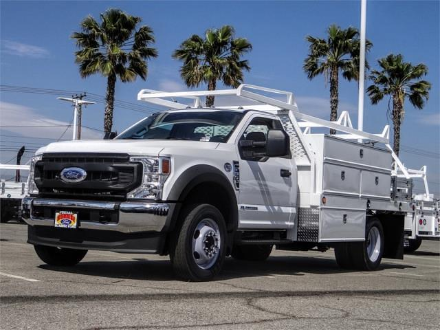 2021 Ford F-550 Regular Cab DRW 4x2, Scelzi Contractor Body #FM1420 - photo 1