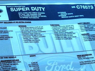 2021 Ford F-450 Crew Cab DRW 4x2, Scelzi CTFB Contractor Body #FM1744 - photo 12