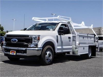 2021 Ford F-350 Regular Cab DRW 4x2, Scelzi CTFB Contractor Body #FM1881 - photo 1