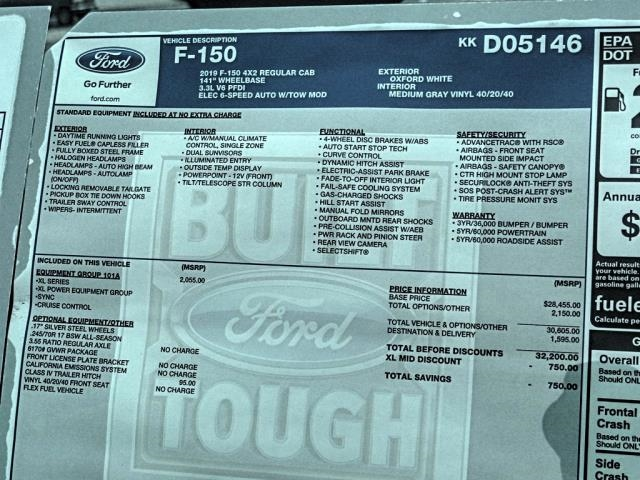 2019 F-150 Regular Cab 4x2,  Pickup #fk2227 - photo 10