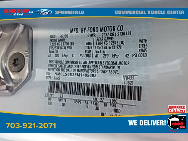 2021 Ford Transit Connect, Empty Cargo Van #G485683 - photo 17