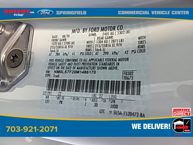 2021 Ford Transit Connect, Empty Cargo Van #G486170 - photo 16