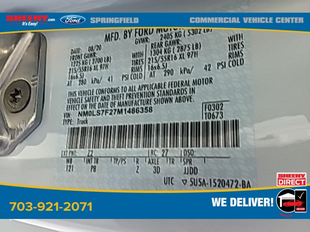2021 Ford Transit Connect, Empty Cargo Van #G486358 - photo 19
