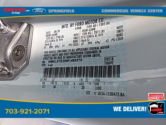 2021 Ford Transit Connect, Empty Cargo Van #G486578 - photo 14
