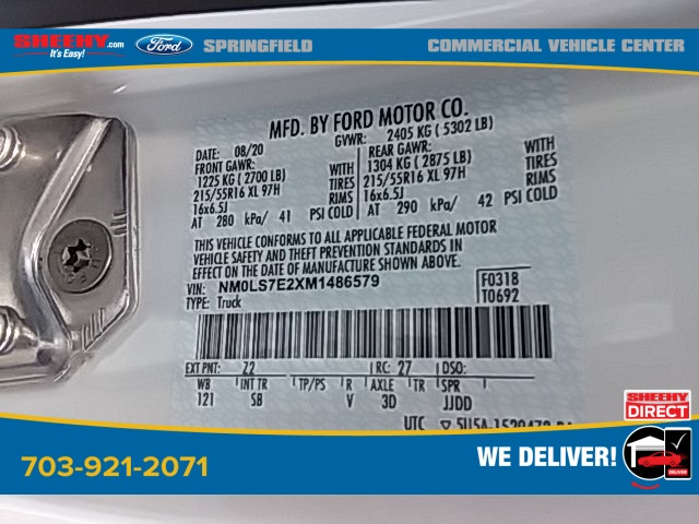 2021 Ford Transit Connect, Empty Cargo Van #G486579 - photo 28